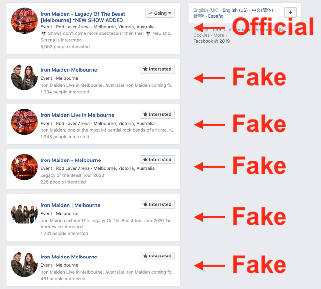 Facebook try to protect members of their website from online scam